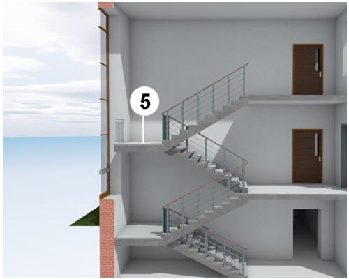 Лестничная площадка между этажами по-английски - landing