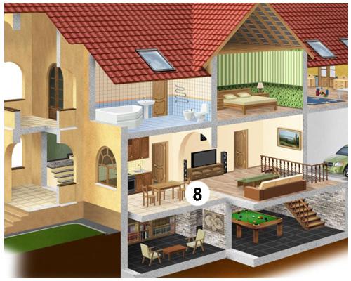 Столовая в доме или квартире по-английски - dining-room