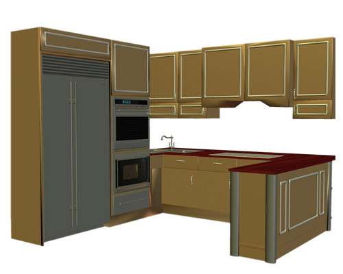 Кухонный шкаф - cupboard [ˈkʌpbəd]