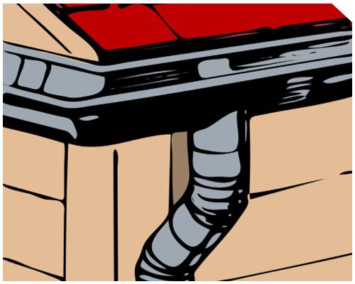 Трубы для отвода воды с крыши - drainpipe