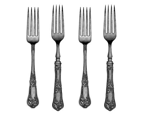 Вилки по-английски - forks