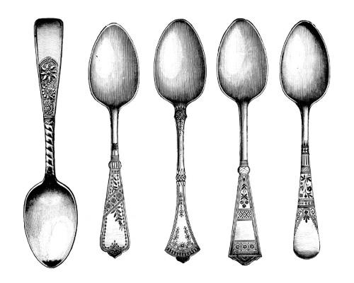 Ложки по-английски -spoons