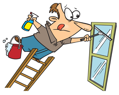 Мыть окна по-английски - to clean the windows