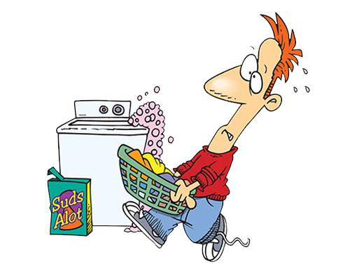 Стирать или делать стирку - to do the washing