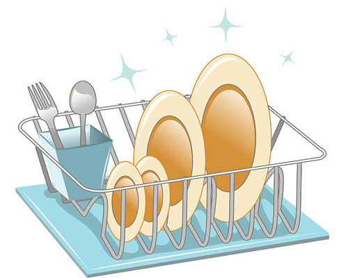 Полка для тарелок - plate rack