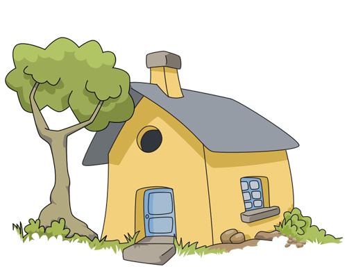 Загородный, дачный домик по-английски - cottage [ˈkɒtɪʤ]