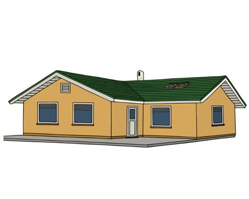 Бунгало (дача, одноэтажный дом) по-английский - bungalow [ˈbʌŋgələʊ]