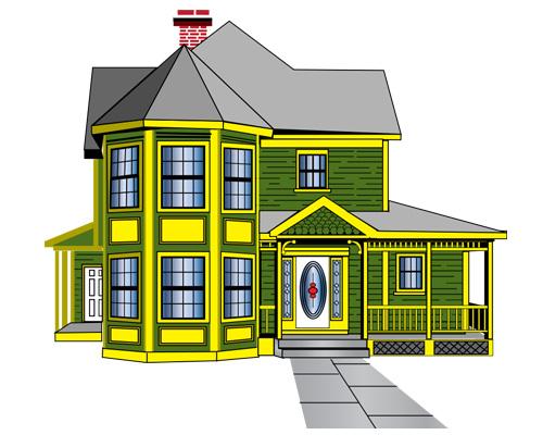 Особняк по-английски - detached house [dɪˈtæʧt haʊs]