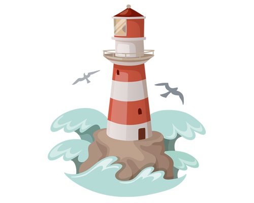 Маяк по-английски - lighthouse [ˈlaɪthaʊs]