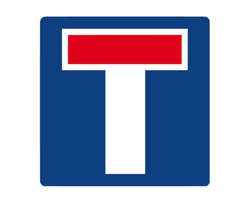 """Дорожный знак """"Тупик"""" в Англии - No through road"""
