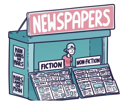 Продавец или разносчик газет - newsagent's