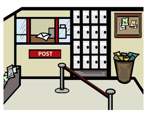 Почта по-английски -post office