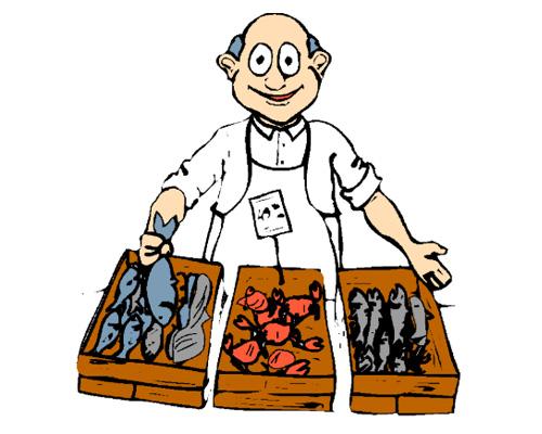 Торговец рыбой - fishmonger's