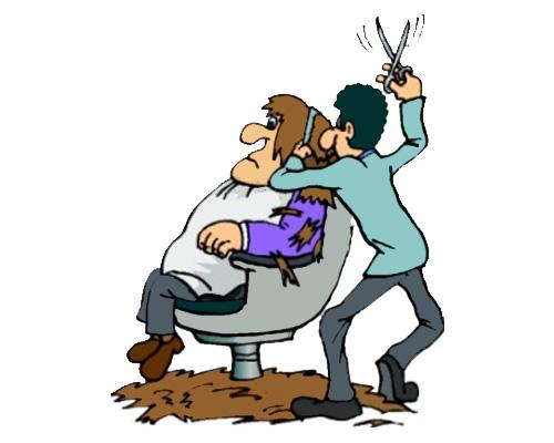 Стригут и бреют мужчин в barber's