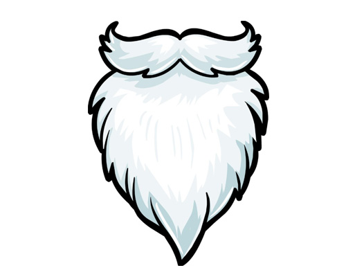 Борода по-английски - beard [bɪəd]