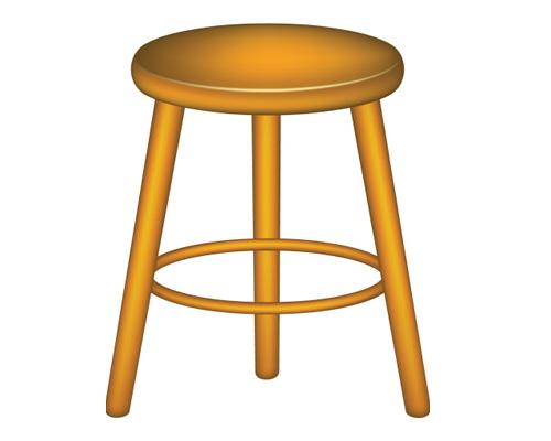 Стул по-английски, так и будет stool [stuːl]