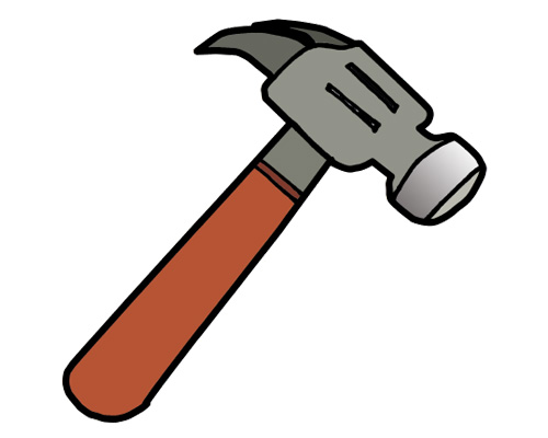 Молоток по-английски - hammer [ˈhæmə]