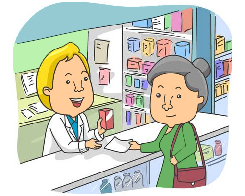 at the chemist's