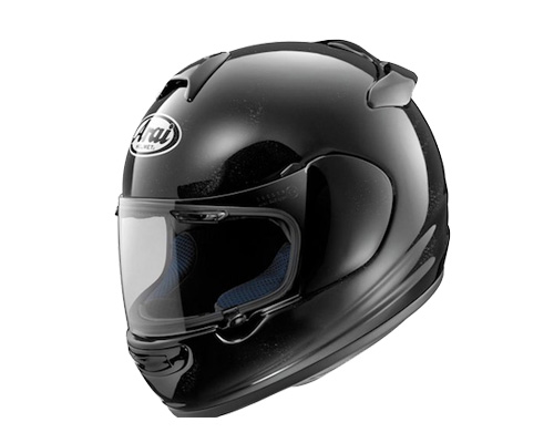 A crash helmet is used by a motorcyclist