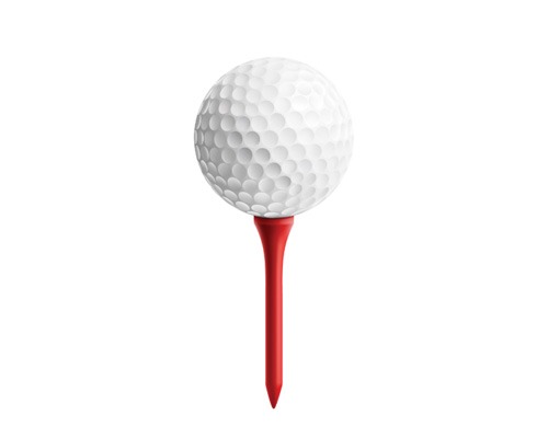 A tee is used by a golfer