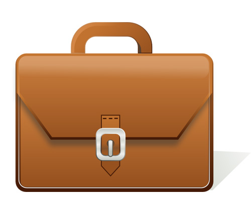 A briefcase is used by a businessman