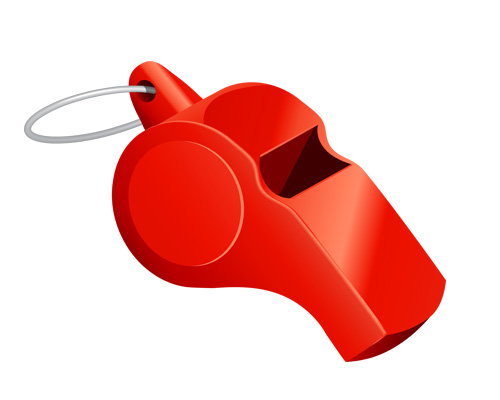 A whistle is used a referee
