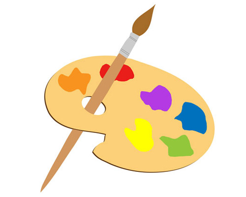 A palette is used by an artist
