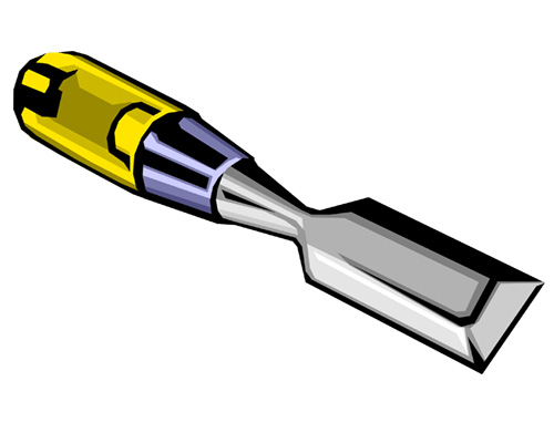 A chisel is used by a carpenter