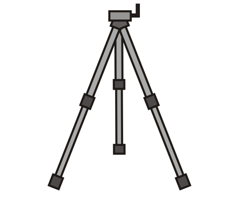 A tripod is used by a photographer
