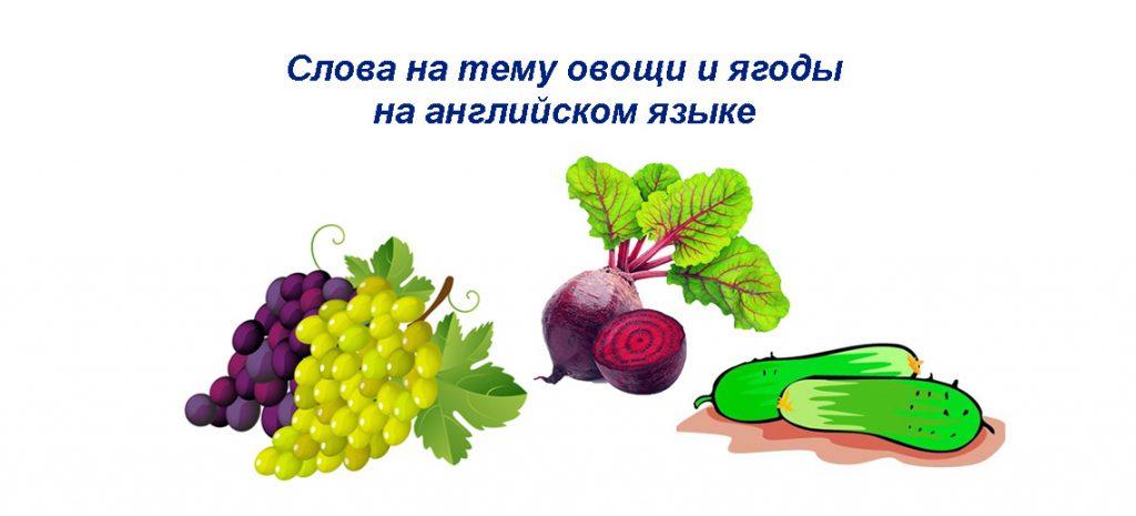 Фрукты и овощи на английском языке - онлайн карточки начинающим