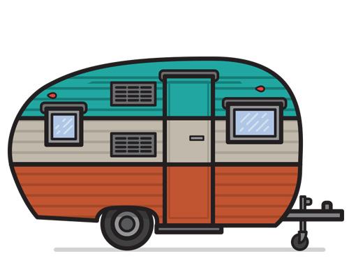 Автофургон для проживания по-английски - caravan [ˈkærəvæn]