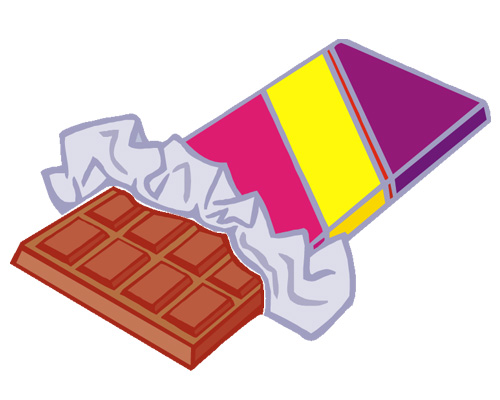 Плитка шоколада по-английски - a bar of chocolate