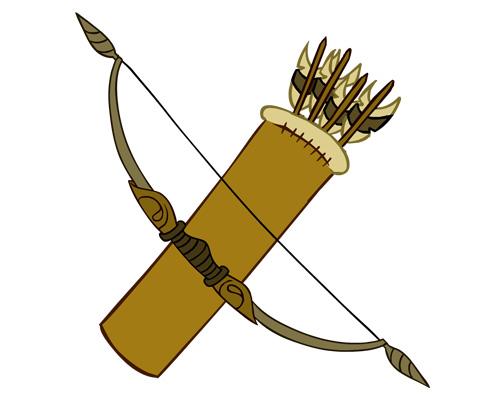 Колчан со стрелами -a quiver of arrows