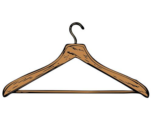 Вешалка для одежды на-английском - coat-hanger [ˈkəʊthæŋgə]