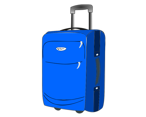 Чемодан по-английски - suitcase [ˈsjuːtkeɪs]