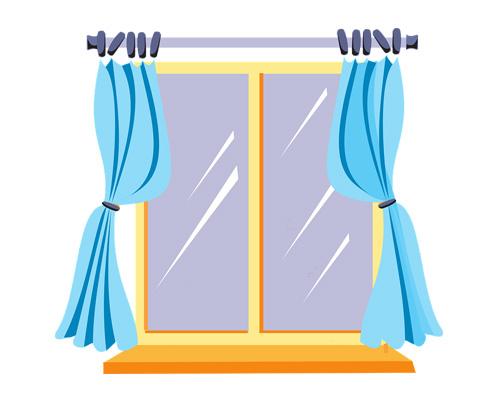 Шторы, занавески по-английски - curtains [kɜːtn]