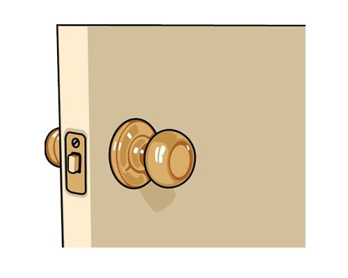 Дверная ручка по-английски - door-handle [ˈdɔːhændl]