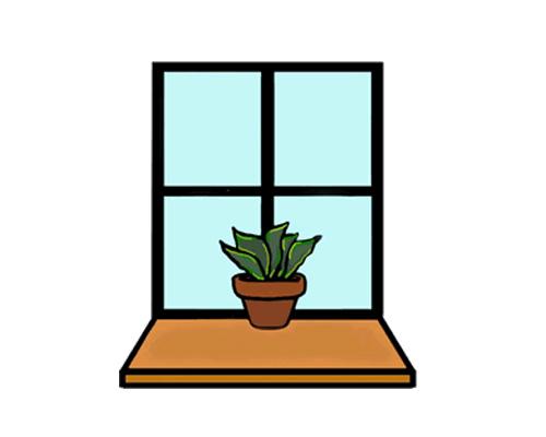 Подоконник по-английски - window sill [ˈwɪndəʊ sɪl]