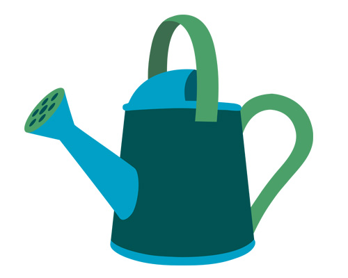 Лейка по-английски - watering can [ˈwɔːtərɪŋ kæn