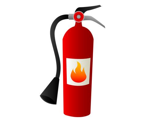 Огнетушитель по-английски - fire extinguisher [ˈfaɪə ɪksˈtɪŋgwɪʃə]