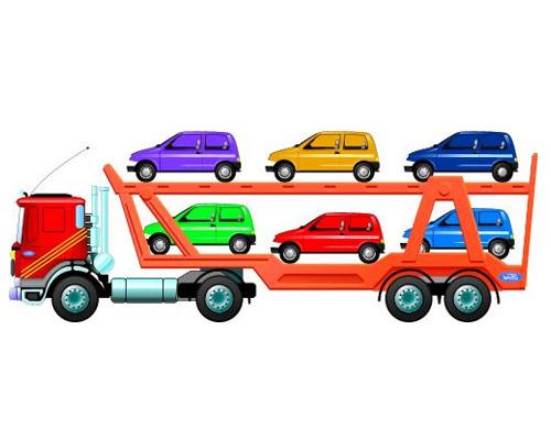 Грузовик для перевозки новых авто по-английски называется - transporter [trænsˈpɔːtə]