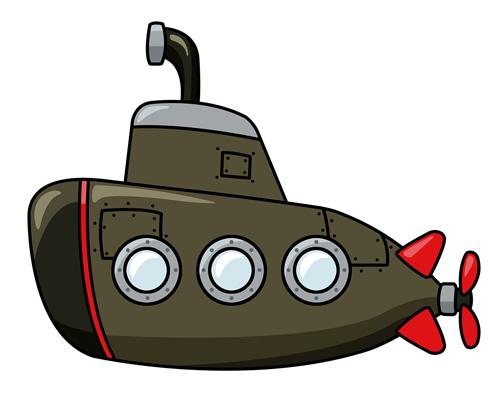 Подводная лодка по-английски - submarine [sʌbməˈriːn]