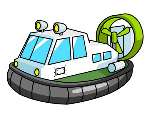 Корабль на воздушной подушке - hovercraft [ˈhɒvəkrɑːft]