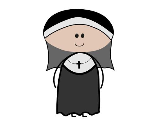 A nun lives in a convent (convent [ˈkɒnvənt] - женский монастырь)